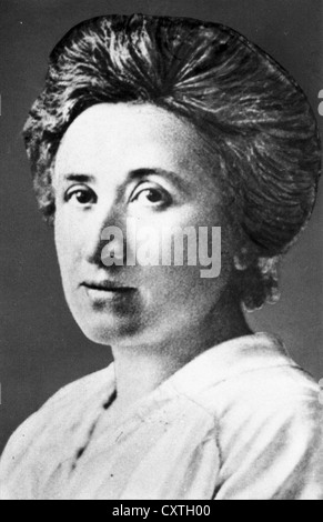 ROSA LUXEMBURG (1871-1919) Russian Marxist theorist and philosopher - Stock Photo