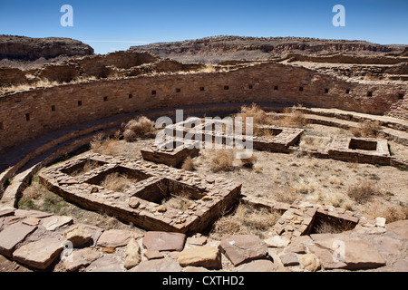 Chaco, National Historical Park, World Heritage Site, New Mexico, USA - Stock Photo