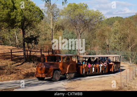 Tourist attraction, western wagon from the days of the wild west, at La Reserva Sevilla El Castillo de las Guardas, - Stock Photo