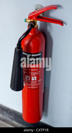 Carbon dioxide fire extinguisher - Stock Photo