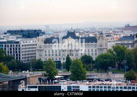 Four Seasons Hotel, Gresham Palace, Budapest, Hungary - Stock Photo