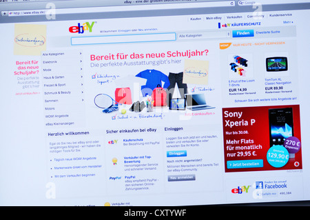 ebay website german stock photo royalty free image 40190418 alamy. Black Bedroom Furniture Sets. Home Design Ideas