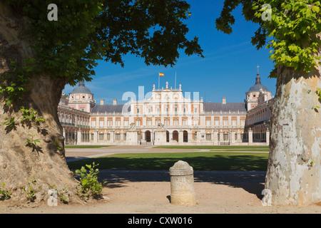 Aranjuez, Comunidad de Madrid, Spain. The Royal Palace. - Stock Photo
