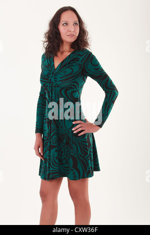 Finally a dress that fits - Stock Photo