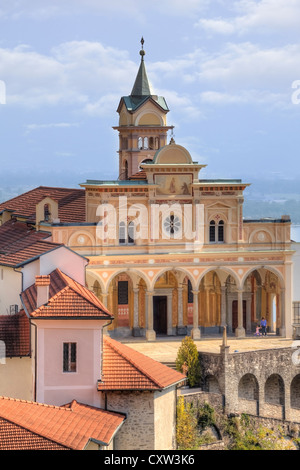 Sanctuary of Madonna del Sasso in Locarno, Ticino, Switzerland - Stock Photo