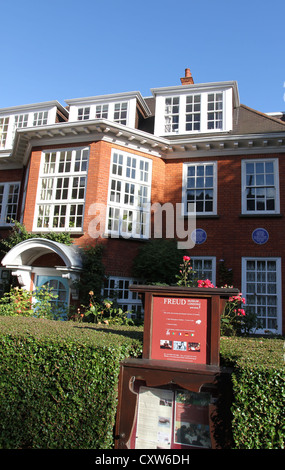 Exterior of Freud House Museum Hampstead London October 2012 - Stock Photo