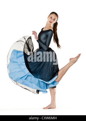 Teenage dancer in lyrical / contemporary dance costume - Stock Photo