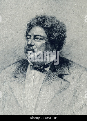 French author Alexandre Dumas wrote The Three Musketeers and The Count of Monte Cristo. - Stock Photo