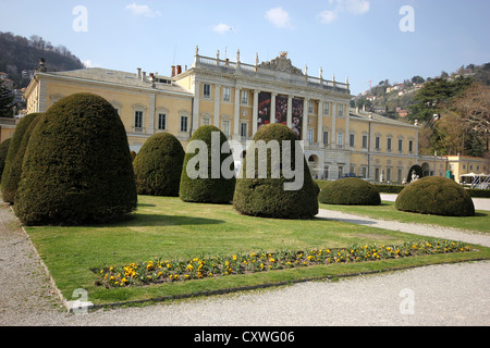 A beautiful view of Villla Olmo, Como, Italy, lake, photoarkive - Stock Photo