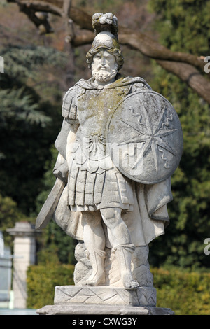marble statue, lake Como, Villa Olmo, Como, lake, Italy, photoarkive - Stock Photo