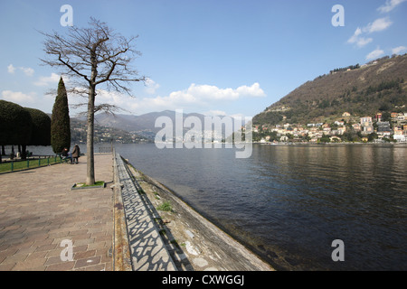 A picture of the walk of Lake Como, Italy, photoarkive - Stock Photo