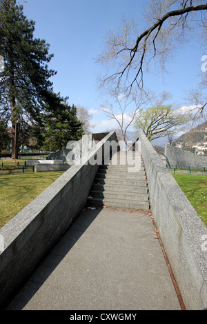 Como, lake, lake Como, stiarway, stairs, steps, monument, photoarkive - Stock Photo