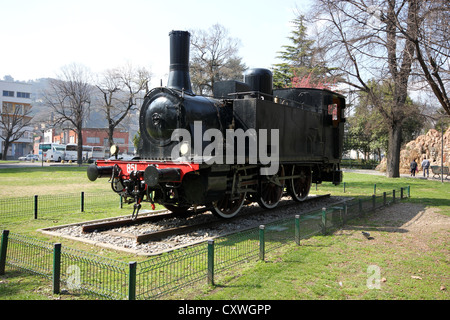 Como , lake , lake Como , train , monument, photoarkive - Stock Photo