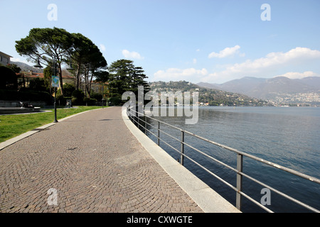 Como, lake , lake Como , walk, photoarkive - Stock Photo