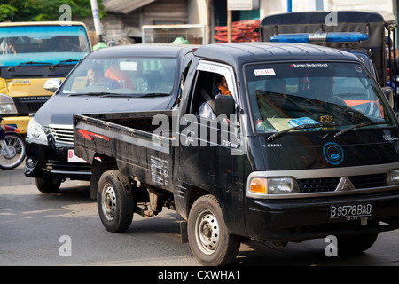 Traffic in Jakarta, Indonesia - Stock Photo