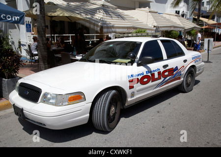 miami beach police patrol car vehicle south beach florida usa - Stock Photo