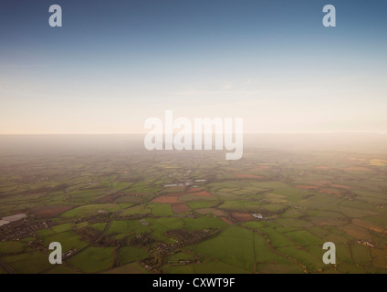 Aerial view of rural farmlands - Stock Photo