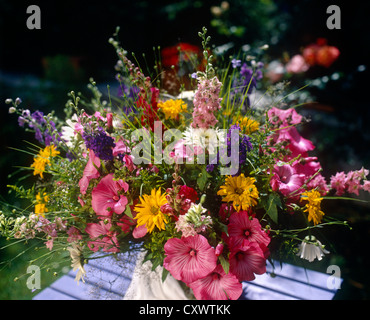 Still life flowers outdoors - Stock Photo