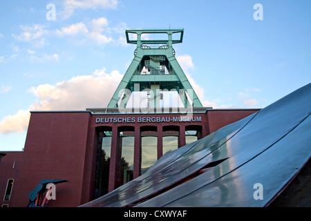 The German Mining Museum 'Deutsche Bergbau-Museum' with winding tower in Bochum, North Rhine-Westphalia, Germany, - Stock Photo