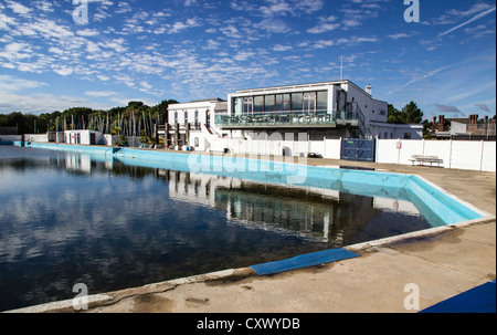 Lymington Open Air Sea Water Baths, Hampshire, England, UK. Europe - Stock Photo