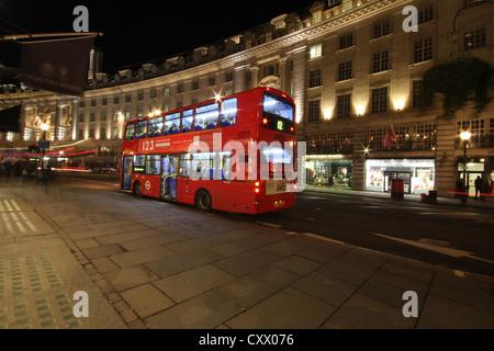 London, Londra, city, Europe, a beautiful view of Famous Regents Street - Stock Photo