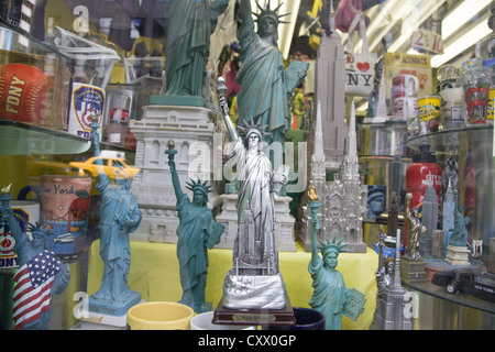 Store window of a souvenir shop on 5th Avenue in New York City. - Stock Photo