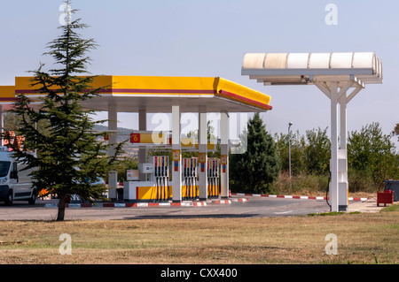 Gas station (international road) - Stock Photo