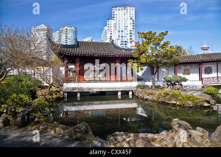 View of Dr. Sun Yat-Sen Classical Chinese Garden, Vancouver, British Columbia, Canada - Stock Photo
