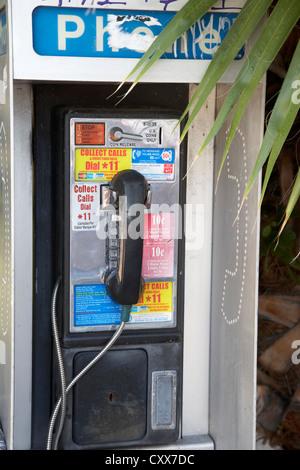 pay phone miami south beach florida usa - Stock Photo
