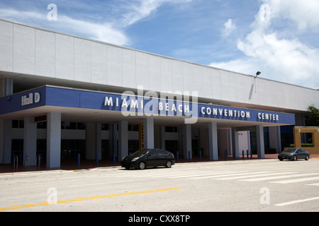 miami beach convention center miami south beach florida usa - Stock Photo