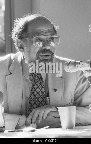 New York, NY May 1987 - Poet Allen Ginsberg (June 3, 1926 – April 5, 1997) at a panel discussion, St. Mark's in - Stock Photo