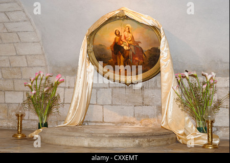 The so-called workshop of St. Joseph, St. Joseph's Church, Nazareth, Galilee, Israel, Middle East - Stock Photo