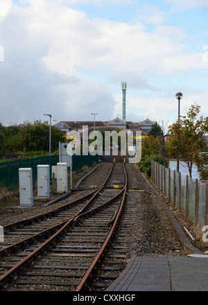 The end of the line. Morecambe rail station, Lancashire, England, United Kingdom, Europe. - Stock Photo