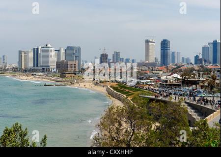 Clore beach, Jaffa, Tel Aviv, Israel, Middle East - Stock Photo