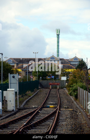 The end of the line. Morecambe rail station, Lancashire, England, United Kingdom, Europe. - Stock Photo