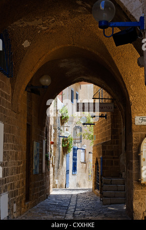 Artists' Quarter in the old city of Jaffa, Tel Aviv, Israel, Middle East - Stock Photo