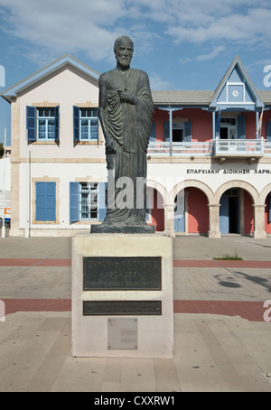 Statue of Zeno, Larnaca, Cyprus - Stock Photo