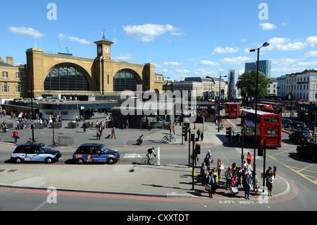 King's Cross railway station, Camden, London, Britain, UK - Stock Photo