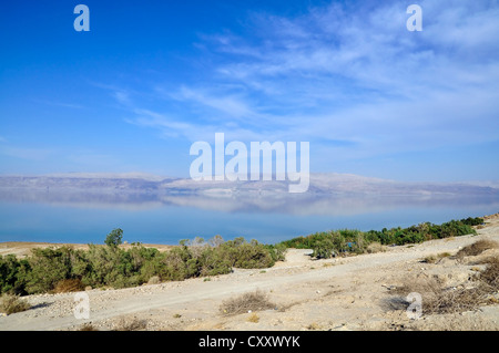 Landscape. Beautiful reflection in the Dead Sea in Israel. - Stock Photo