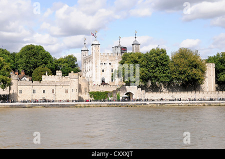 The Tower of London, Waterloo Barracks with the Crown Jewels, UNESCO World Cultural Heritage Site, palace, prison - Stock Photo