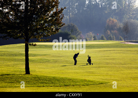 Schloss Horst golf course, lane 1, Par 5Gelsenkirchen, Germany - Stock Photo