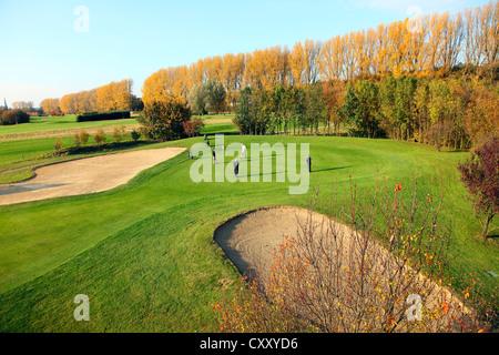 Schloss Horst golf course, lane 7, Par 3, Gelsenkirchen, Germany - Stock Photo