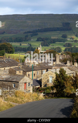 The village, houses and buildings in Gayle near Hawes in Wensleydale, North Yorkshire, UK - Stock Photo