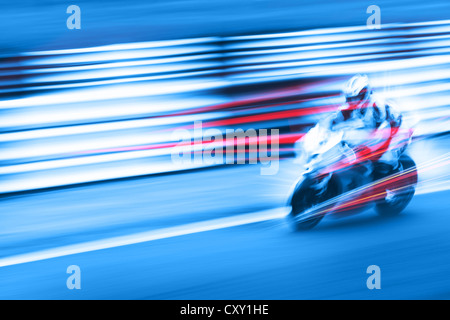 super fast action motorcycle - Stock Photo