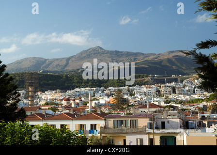 view looking acroos rethymnon town from the fortteza crete greece - Stock Photo