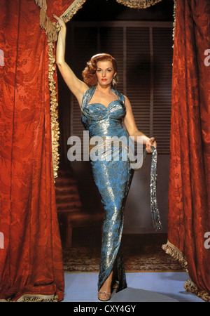 JANE RUSSELL (1921-2011) US film star about 1956 - Stock Photo