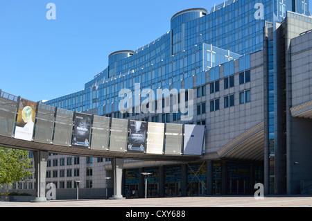 European Parliament building, Brussels, Belgium, Europe, European Union - Stock Photo