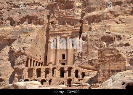 The Urn Tomb, Petra, Jordan. - Stock Photo