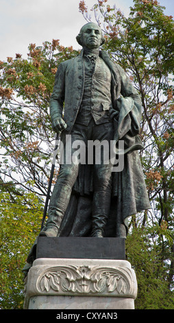 BUDAPEST - SEPTEMBER 22: George Washington memorial by Gyula Bezerédi from year 1906 on September 22, 2012 in Budapest. - Stock Photo