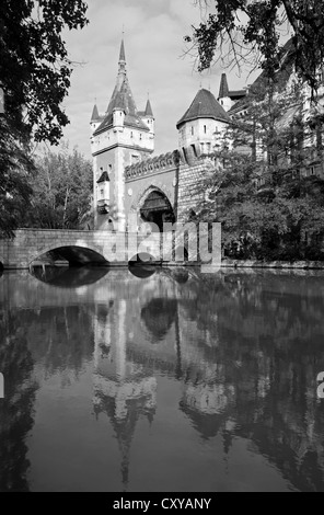 BUDAPEST - SEPTEMBER 22: Vajdahunyad castle on September 22, 2012 in Budapest. - Stock Photo